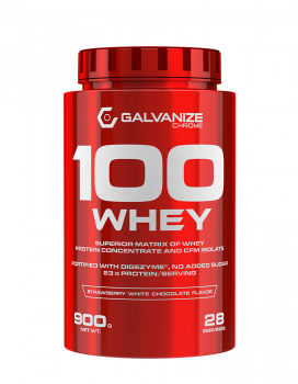картинка Galvanize 100 Whey 900 гр. (Strawberry Cream) от магазина