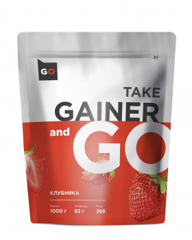 картинка Take and Go Gainer 1000 гр. (Клубника) от магазина